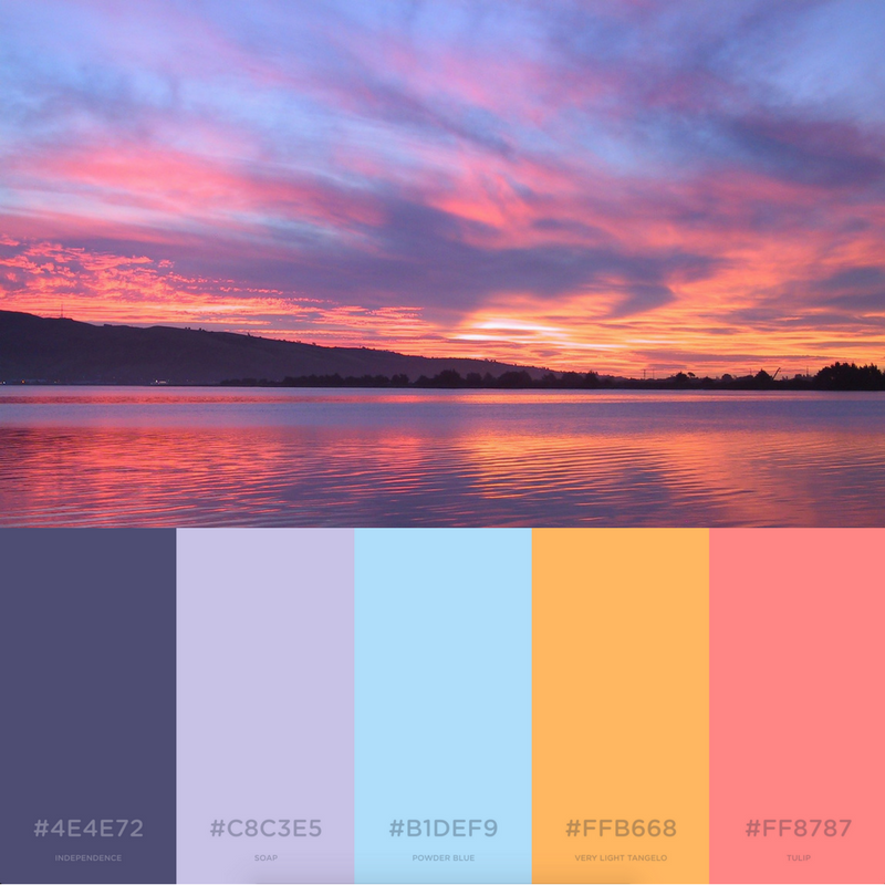 7 Soothing Color Palettes For Your Bedroom In 2019: 7 Branding Color Palettes Inspired By Summer
